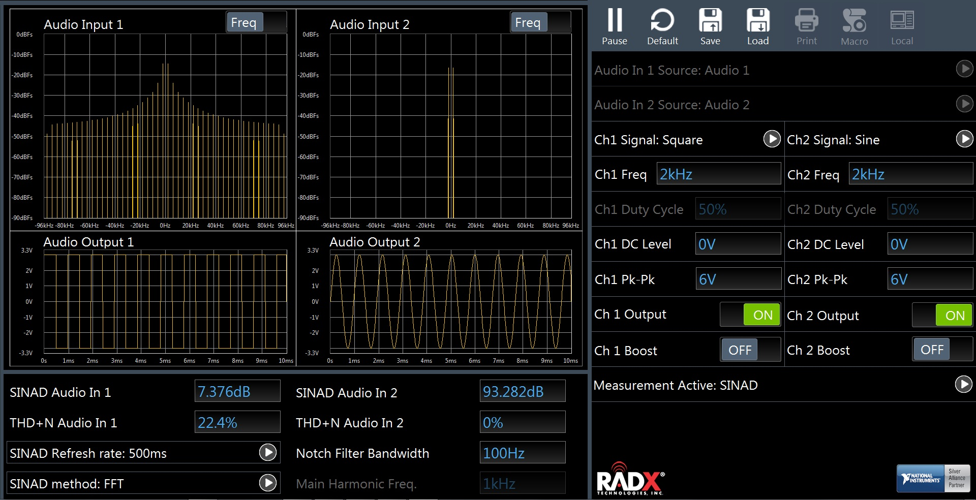 RADX LGT MSFS Audio Analyzer