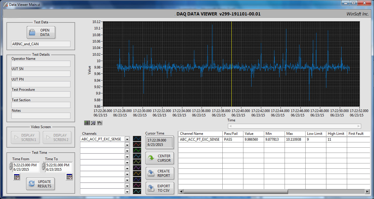 DAQ 7200 Software