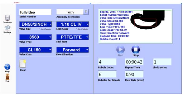 Monitor Example - G Systems Valve Leak Measurement System