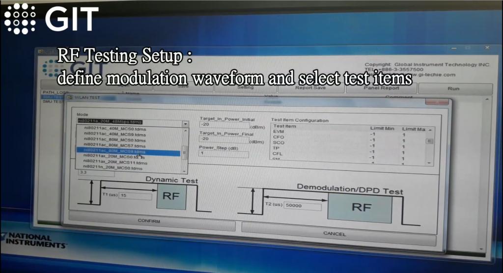 RF Testing Setup