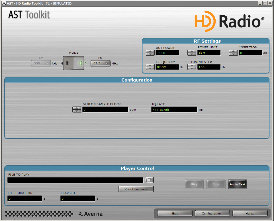 AST-1000 HD Radio toolkit