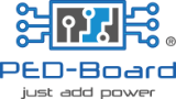 "PED-Board ""Just Add Power"" Logo"